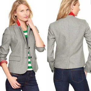 GAP The Academy Blazer Herringbone Gray 2